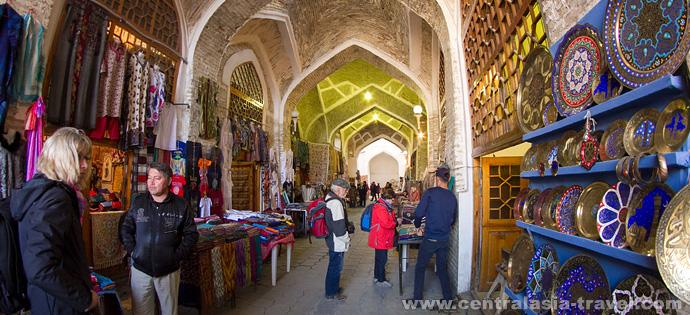 Galéries de marchands de Boukhara. Marchés de l'Ouzbékistan. tour en ouzbékistan, nouvel an tour, tour de nouvel an, vacances de nouvel an