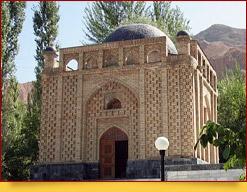 Мавзолей Мухаммада Башоро (11 - 14 века). Пенджикент, Таджикистан