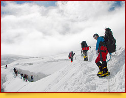 Safety precautions for climbing Lenin peak