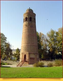 Uzgen minaret. Mausoleums of Karakhanids