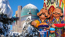 Clásico Uzbekistán para las fiestas navideñas