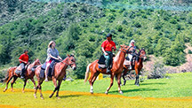 Horse riding tour and colours of the Fergana Valley