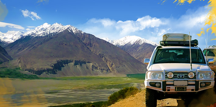 Adventure Jeep-tour in the Pamirs