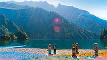 Йога тур в горах Киргизии в заповедном районе озера Сары-Челек