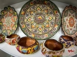 Souvenirs en Ouzbékistan. Ustensile en céramique