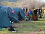 После восхождения. Альплагерь «Чимган» компании Central Asia Travel. Чимган, Узбекистан