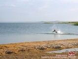 Aydarkul Lake. Kyzyl-Kum desert, Uzbekistan
