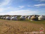 Yurt camp in the Kyzylkum desert, Uzbekistan. Tour To Aydarkul Lake via Kyzyl-Kum desert
