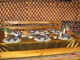 Lunch at the yurt camp in the Kyzylkum desert, Uzbekistan. Tour To Aydarkul Lake via Kyzyl-Kum desert
