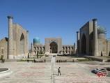 Registan Square. Samarkand, Uzbekistan. Tour To Aydarkul Lake via Kyzyl-Kum desert