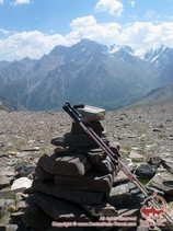The view from the Uryam pass (3760 m). Pamir-Alay area, Kyrgyzstan