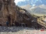 Подъем к перевалу Урям (3760 м). Баткенский район Ошской области, Кыргызстан