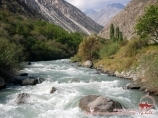 Laily-Mazar river. Uzgarysh village. Batken Region, Kyrgyzstan