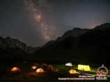 Night in the camp. Batken Region, Kyrgyzstan