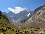 Пик Сабах (5283 м). Район Памиро-Алая, Кыргызстан