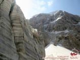 Glacier on the Ak-Tubek pass (4390m). Pamir-Alay area, Kyrgyzstan