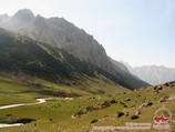 Uryam river valley. Pamir-Alay area, Kyrgyzstan