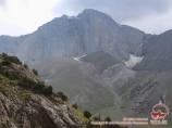 Parus peak (5037m). Pamir-Alay area, Kyrgyzstan