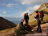 Перевал Путешественников (4150 м). Пик Ленина, Памир, Кыргызстан