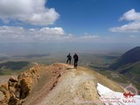 La crête de Petrovskiy pic. Pamir, au Kirghizistan