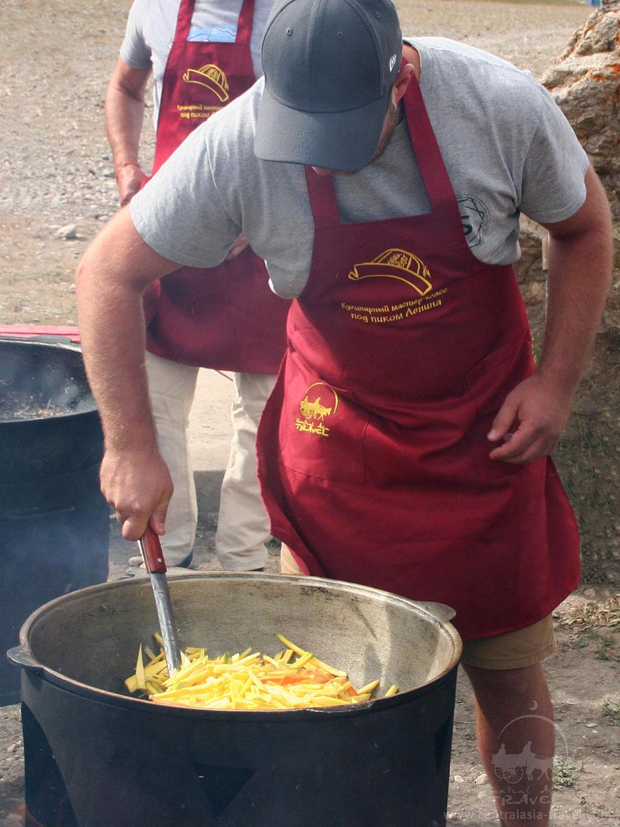 Clase de cocinar el pilaf