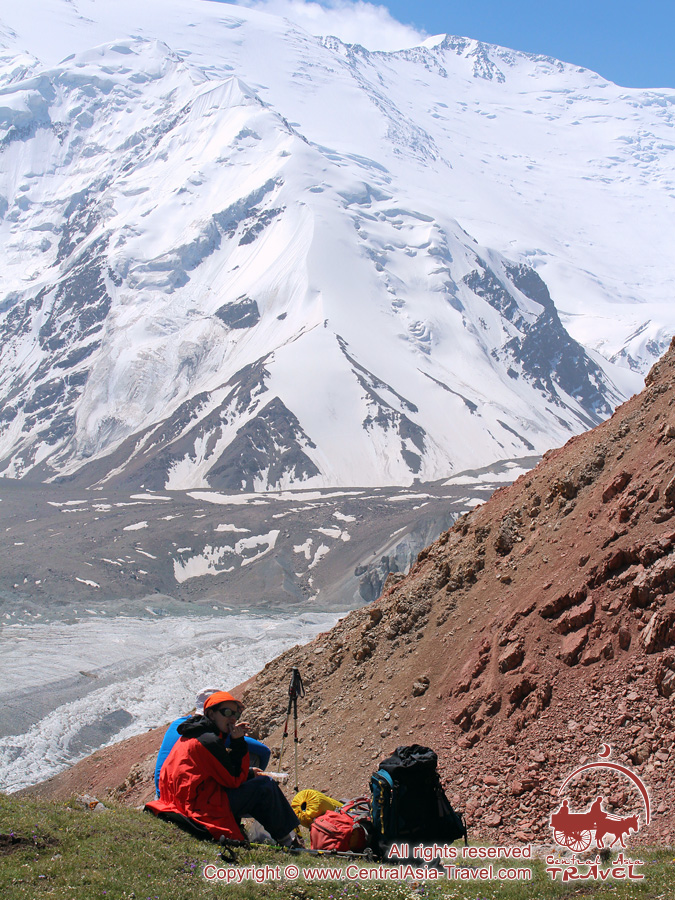 On the way to the Camp 1. Lenin peak, Pamir, Kyrgyzstan