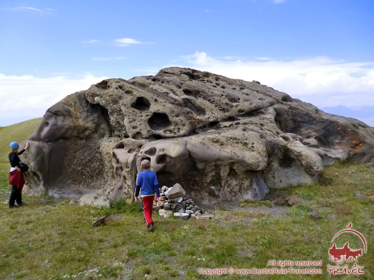 The surroundings of the lake Tulpar Kol. Chon-Alai valley, Pamir, Kyrgyzstan
