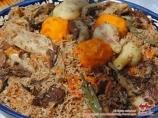 Usbekischer Pilaf. Usbekische Nationalküche