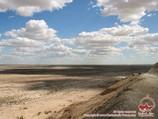 Пейзаж пустыни Кызылкум, Узбекистан
