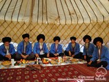 Turkmen yurt. Traditional dwelling place of Turkmen people