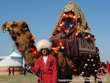 Dressed camel. The holiday of Navruz in Turkmenistan