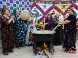 Приготовление сумаляка. Узбекские праздничные блюда
