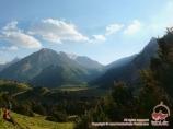 Вид на перевал Урям, Кыргызстан, район Памиро-Алая