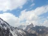 Подъем на перевал Ак-Тюбек, Кыргызстан, район Памиро-Алая