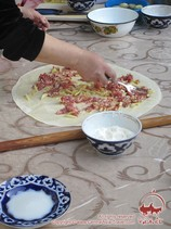 Приготовление ханума. Узбекские национальные блюда