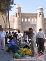 Conjunto Palvan Darvoza. Jiva, Uzbekistán