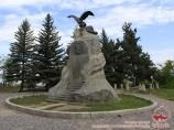Monument Przewalski in the city of Karakol. Kyrgyzstan