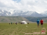 Visiting the locals. Kyrgyz yurt