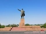 Monument to Lenin in Osh. Kyrgyzstan