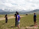 Visiting the locals. Pamir, Kyrgyzstan