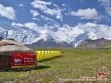 Base camp at the foot of Lenin peak
