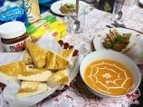 Meals at the Base Camp at Lenin Peak