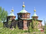 The Trinity Orthodox Church in Karakol. Kyrgyzstan