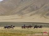 Jailoo - summer pastures. Kyrgyzstan