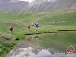 Walk to the lakes. Pamir, Kyrgyzstan