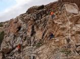 Скальные занятия. Ущелье Аксай. Чимган, Узбекистан