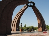 Eternal Fire on Victory Square. Bishkek, Kyrgyzstan