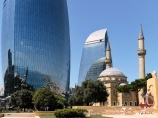 Flame Towers. Baku, Aserbaidschan