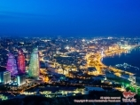 Night view of Baku city, Azerbaijan
