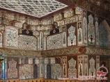 Внутренняя отделка дворца шекинских ханов. Шеки, Азербайджан